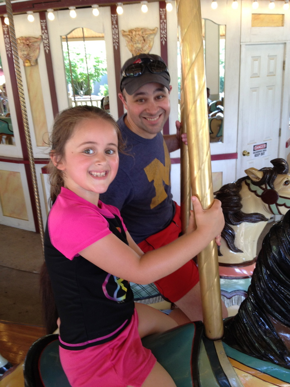 Monkeying Around on the Carousel at Lake Compounce