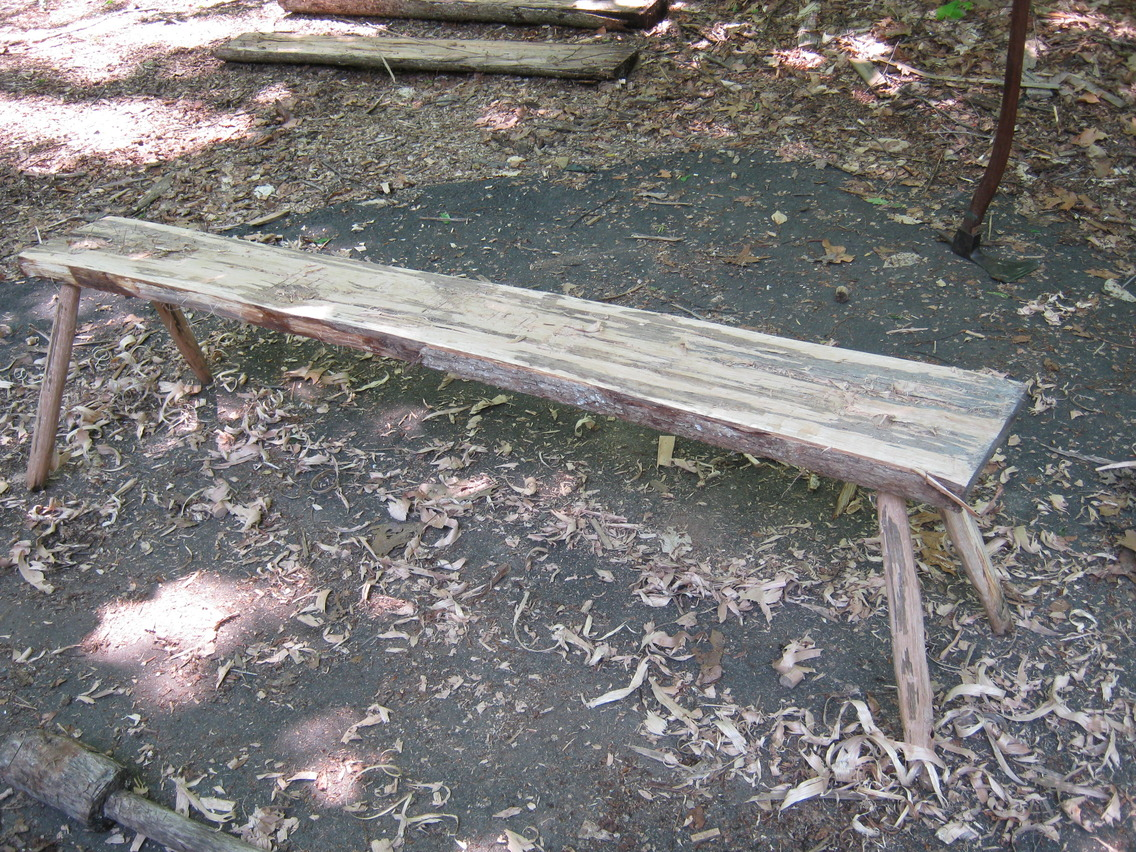 The finished bench- a stable, strong base for my shave horse